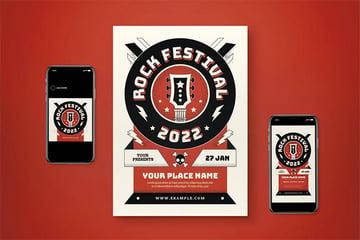 Rock Music Festival Flyer Set