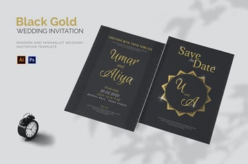 Black and Gold Template