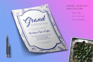 Grand Opening Flyer Design (PSD)