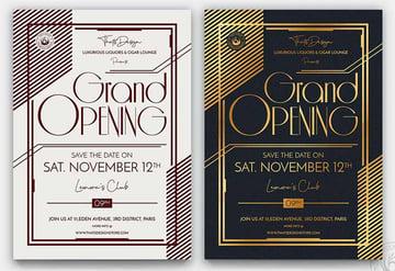 Bar Grand Opening Flyer Template