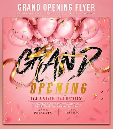 Grand Opening Flyer Ideas