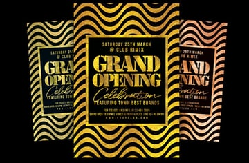 Grand Opening Party Flyer