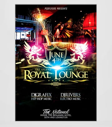 Royal Grand Opening Flyer Ideas