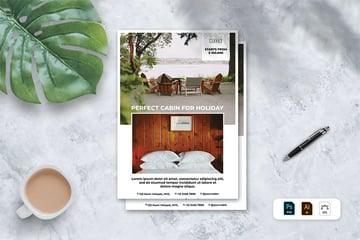 Hotel Brochure PDF Download (AI, EPS, PSD)
