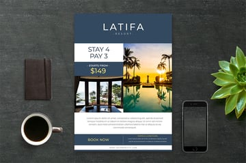 Latifa hotel brochure template