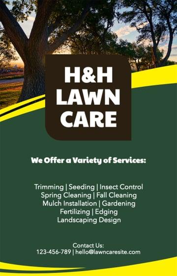 Lawn Maintenance Flyer Template