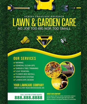 Lawn Care Advertising Flyers