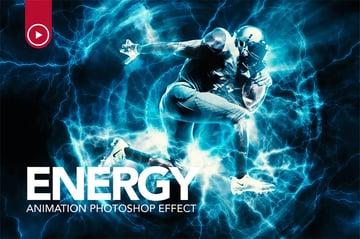 Energy Animation Photoshop Action
