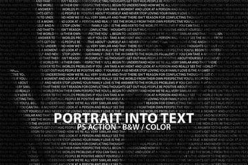 Portrait Into Text Photoshop Action