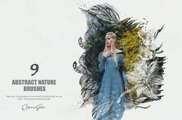Abstract Nature Photoshop Brushes