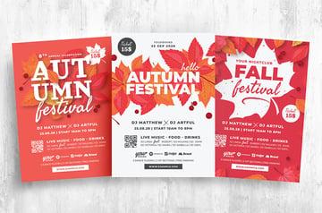 Autumn Flyer Leaflet