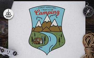 Camp Logo Template