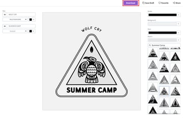5. Download Your Camping Logo for a Small Fee
