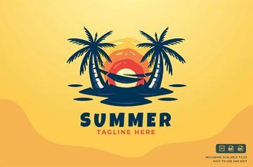 Sunset Palm Tree Logo
