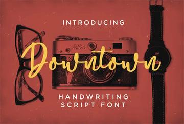 Downtown - Handwriting Script Font