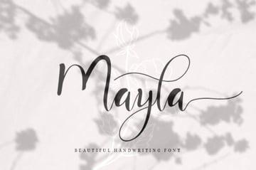 Mayla: Beautiful Fonts Handwriting