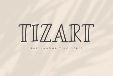 Tizart - The Handwriting Serif Font