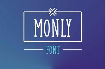 Monly Serif Handwritten Font