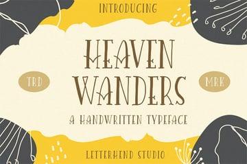 Heaven Wanders: Beautiful Fonts Handwriting