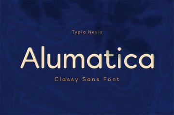 Alumatica Rounded Sans Serif Font