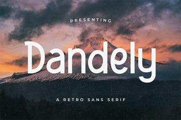 Dandely Rounded Sans Serif Font