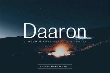 Daaron Rounded Sans Serif Font