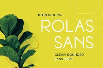 Rolas Sans Serif Round Font