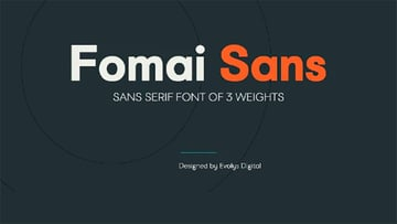 Fomai Font with Rounded Letters