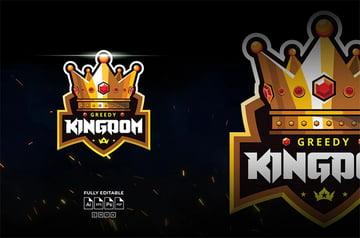 Greedy Kingdom Gold Crown Logo