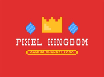 Pixel Kingdom Gold Crown Logo