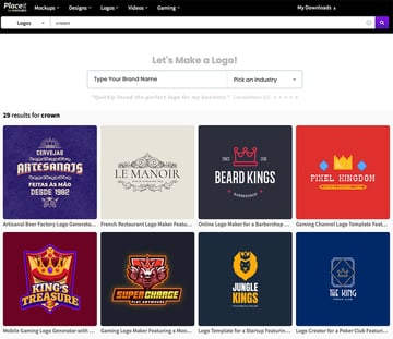 Design the gold crown logo of your dreams with Placeit's logo maker.