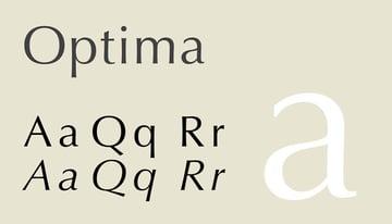 Optima created by Hermann Zapf