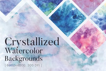 Crystallized Watercolor Background Images