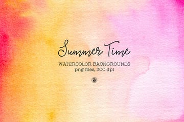Summer Time Watercolor Background Ideas