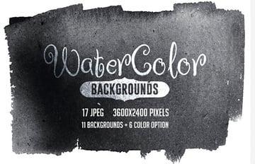 Digital Watercolor Backgrounds
