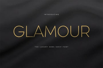 Glamour Thin Font Types