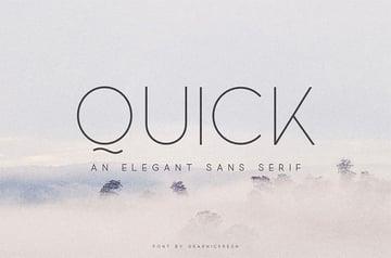 Quick Thin Sans Serif Font