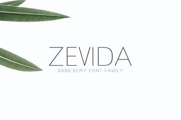 Zevida Thin Sans Serif Font
