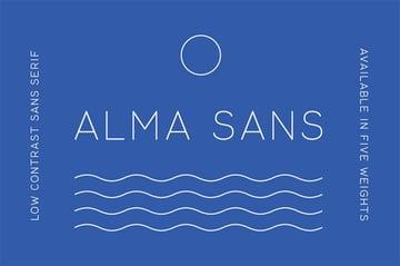 Alma Thin Sans Serif Font