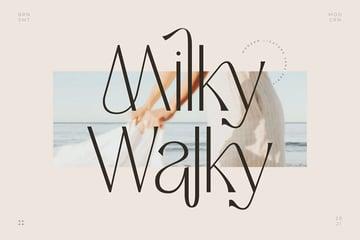 Milky Walky Narrow Font Sans Serif