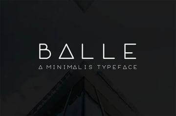 BALLE Thin Font