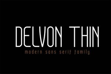 Delvon Thin Sans Font