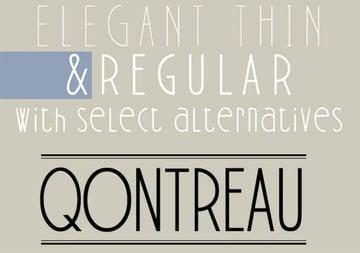 Qontreau Narrow Font Sans Serif