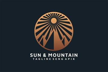 Sun Mountain Black White and Gold Logo