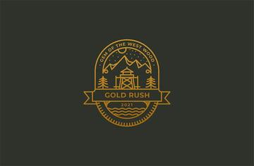 Gold Rush Vintage Black Gold Logo Design