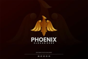 Phoenix Luxury Black and Gold Logo