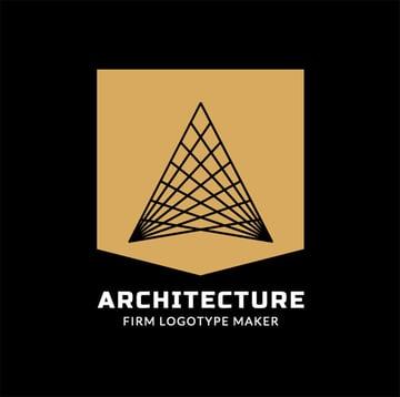Architecture Black and Gold Logo Design Creator