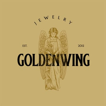 Goldwing Black and Gold Logo Creator