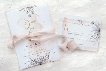 Rose Gold Pary Invites