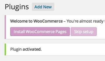 WooCommerce initialization